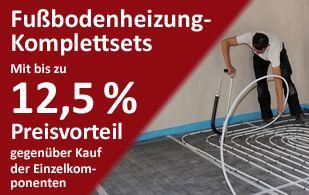 Fußbodenheizung-Komplettsets 10-100 qm: Selfio Fußbodenheizungspakete: Komplettes Zubehör und Preisvorteil inklusive!