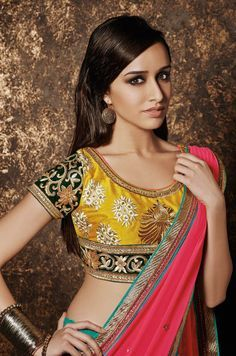 Shraddha Kapoor #photoshoot for Bridal Collection August 2015. #Bollywood #Fashion #Style #Beauty #Saree #Desi #Classy