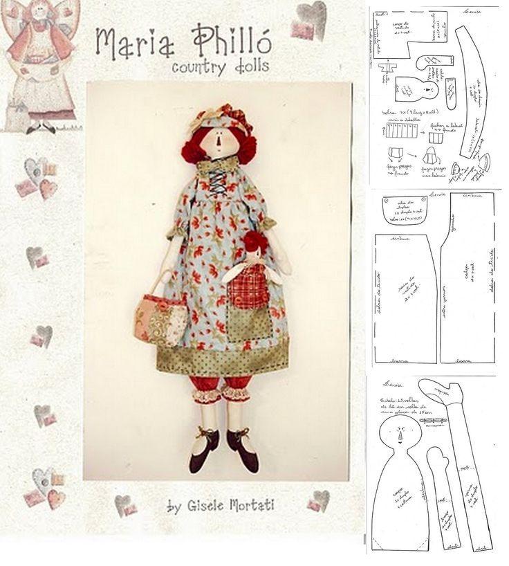 845 best dolls / animals / toys images on Pinterest | Fabric dolls ...