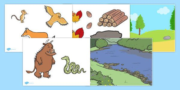 The Gruffalo Story Cut Outs