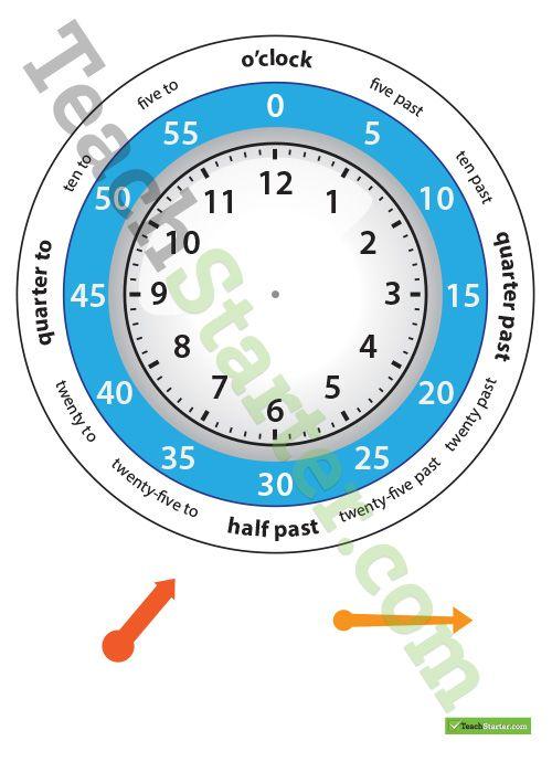 12 Hour Clock Template Teaching Resource