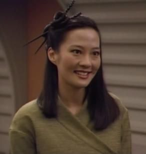 Keiko O'Brien. she was not featured enough for my taste. love her and love Joy Luck Club