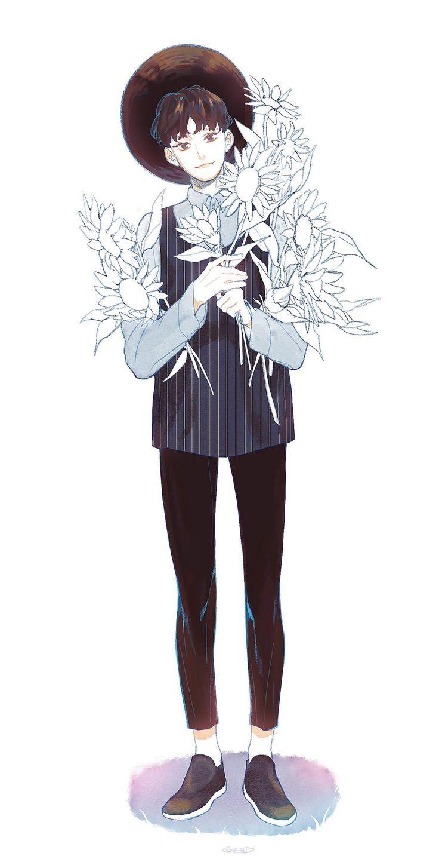 Anime Character 2d : Best d mens images on pinterest anime art