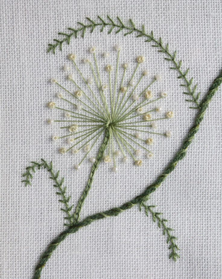 just a repine of some pretty Stumpwork embroidery ~allium~ from Fuscia Bee - too bad the link goes nowhere.