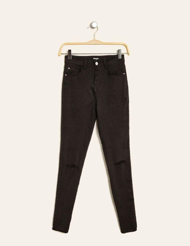 pantalon super skinny taille haute noir - http://www.jennyfer.com/fr-fr/nouveautes/pantalon-super-skinny-taille-haute-noir-10009485060.html