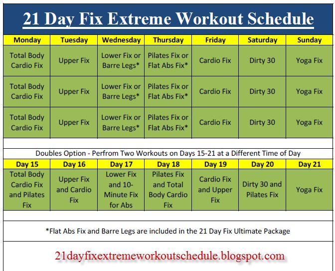 The 25+ best 21 day fix schedule ideas on Pinterest 21 day fix - sample workout calendar