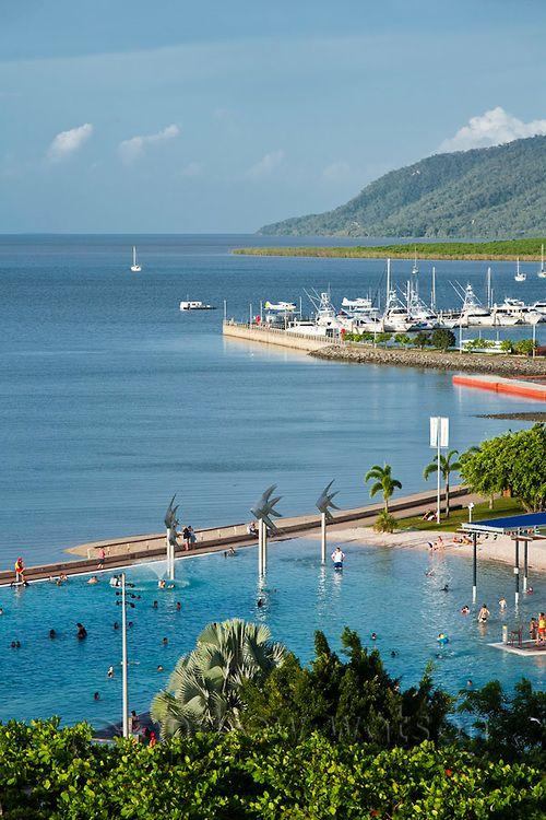 The Esplanade Lagoon. Cairns, Queensland, Australia.