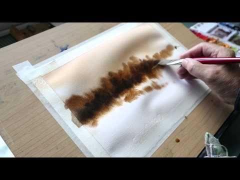 Tutorial para pintar una aguada a la acuarela en tono sepia de forma sencilla
