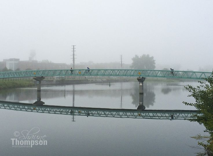 Lachine Canal. The foot bridge in September.