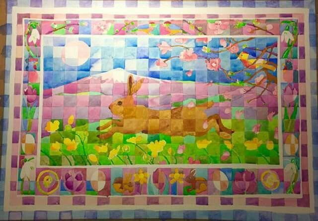 March Hare. Watercolour.