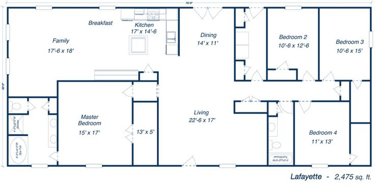 metal 40x60 homes floor plans | Our Steel Home Floor Plans - Click to View!