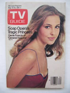 genie francis (laura): Francis Laura, Guide Covers, 1980 S, Francis Tv, Tv Guide, 8 23 1980, 1980 Tv, Genie Francis, General Hospitals