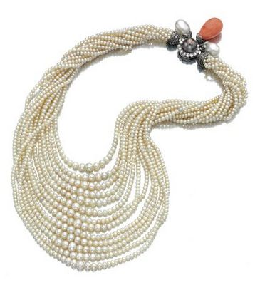 Pearl necklace by Cartier from the collection of Daisy Fellowes2014 Sotheby'S, Pearls Necklaces, Cartier Necklaces, Daisies Fellows, Diamond Necklaces, Montur Cartier, Diamonds Necklaces, Amazing Jewelry, Daisies Diamonds