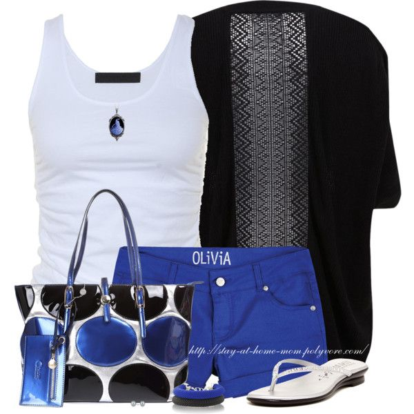"""""""Marine Blue Shorts"""" by stay-at-home-mom on Polyvore"""