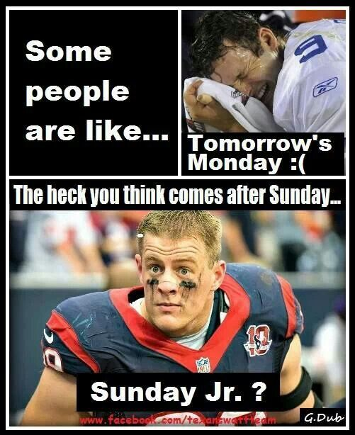 JJ Watt...Sunday Jr??