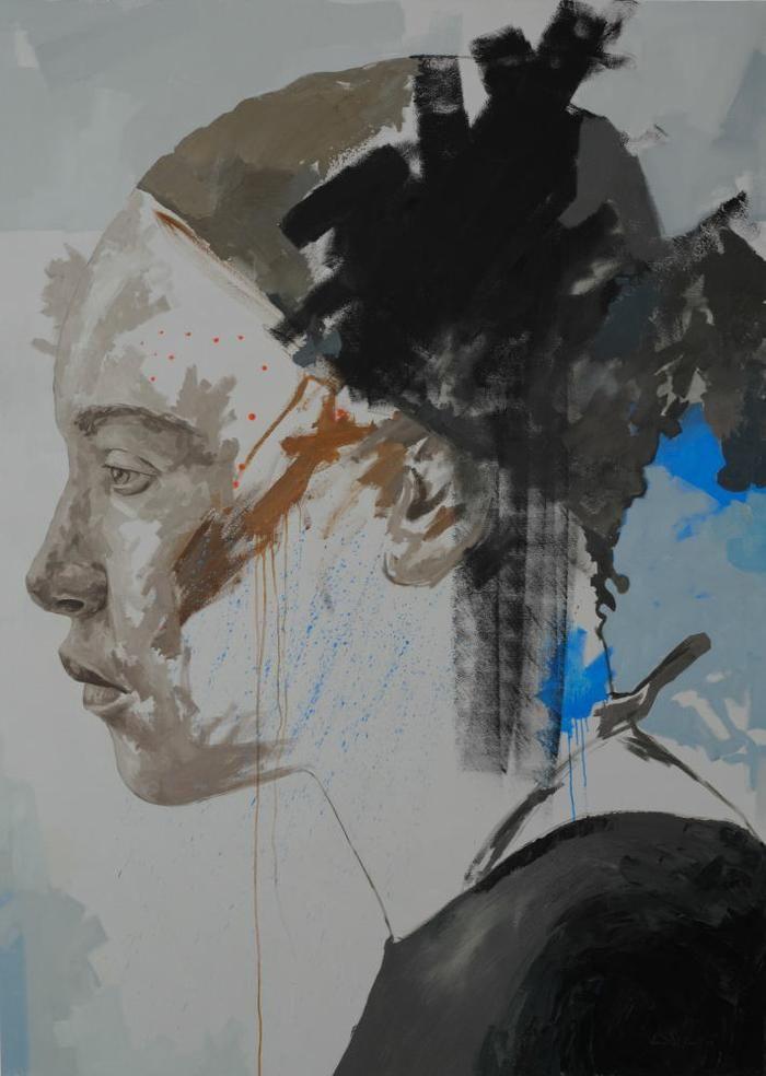 Residue series 5, 230cm X 165cm, Oil on Canvas
