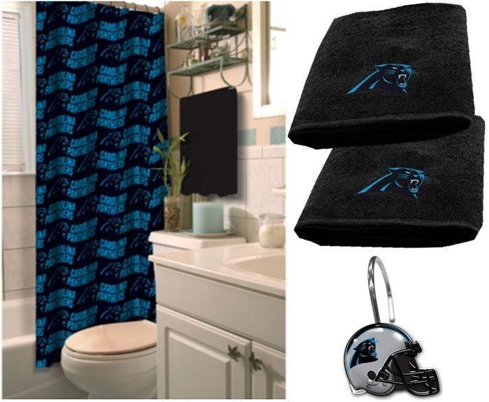 Carolina Panthers NFL Deluxe Bath Set At Sportsfansplus.com