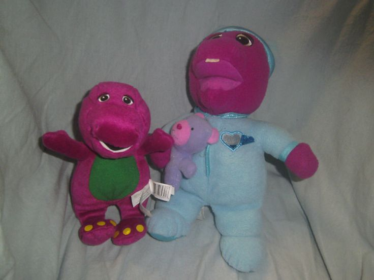 Barney the Dinosaur - Lullaby light up Barney & Barney Soft Toy