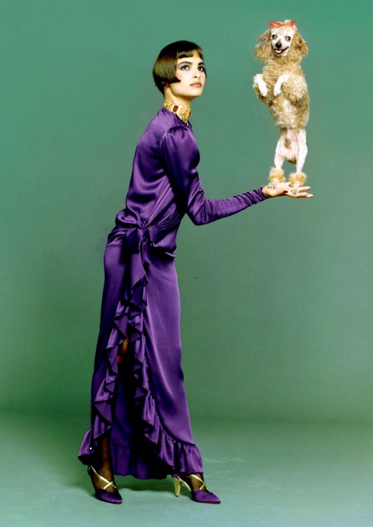Talisa Soto in YSL by Bruce Weber