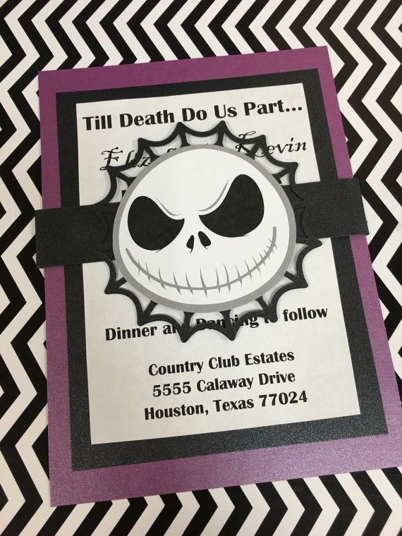 nightmare before christmas invitations halloween invitations 5x7 jack - Nightmare Before Christmas Wedding Invitations