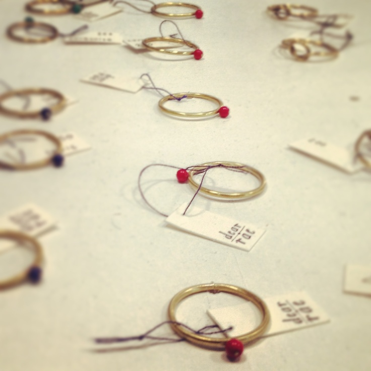 Love these delicate bead rings from Dear Rea. Something quite suggestive about them - romantic Africa