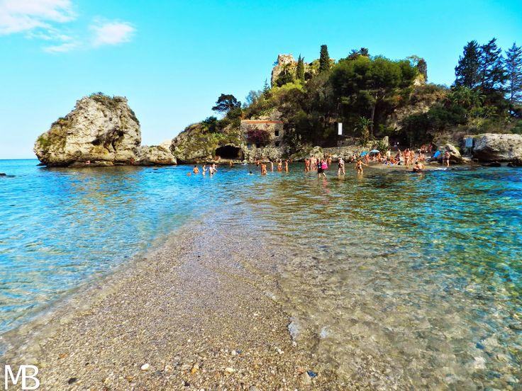 "Isola Bella a Taormina, chiamata la ""Perla del Mediterraneo"" - Isola Bella in Taormina called the ""Pearl of Mediterranean"""