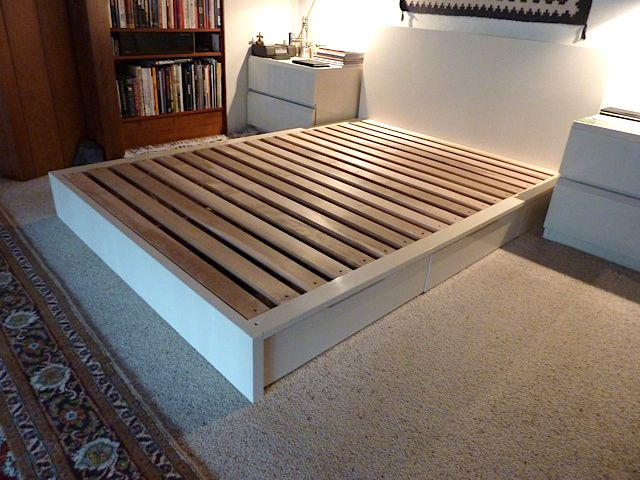 The Stratton bed - custom lacquered bed with drawers