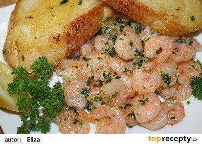 Česnekové krevetky recept - TopRecepty.cz