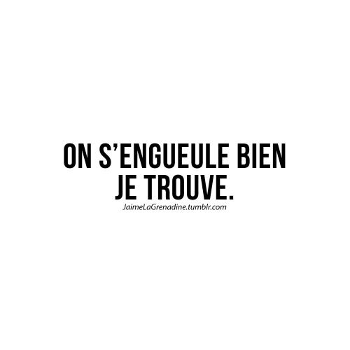 On s'engueule bien je trouve - #JaimeLaGrenadine #citation #punchline #amour #love #dispute