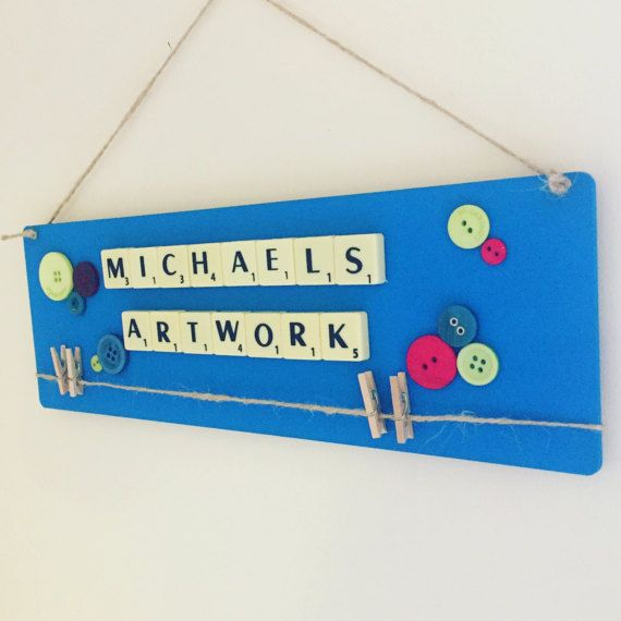 Personalised childrens gift hanging sign childs