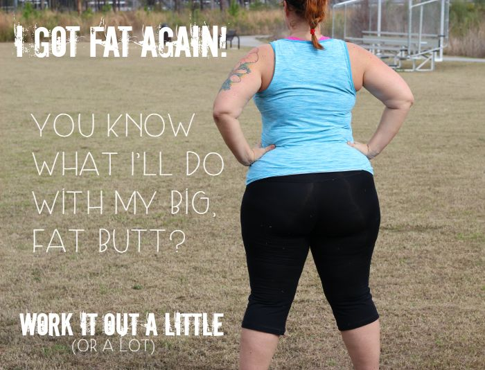 I'm Fat Again! What I'm Doing About it and a Mini Workout for YOU! | http://dirtyfloordiaries.com/im-fat-im-mini-workout/