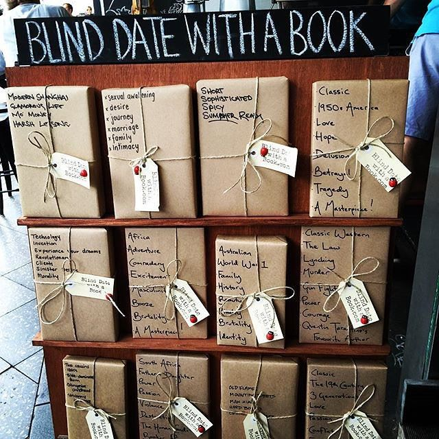 "119 Likes, 15 Comments - Blind Date with a Book (@ablinddatewithabook) on Instagram: ""Blind Date with a Book @elizabethsbookshop in Newtown on Sunday. Thanks to @starryjr for the photo…"""