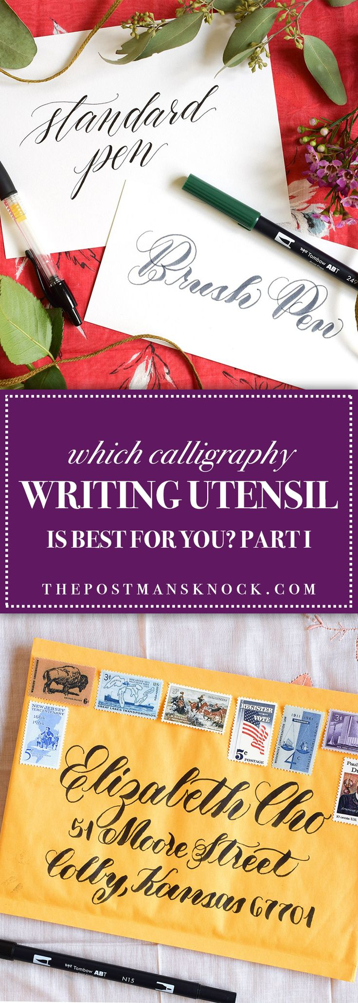 In this blog post, I hope to unite you with your perfect calligraphy writing utensil. You'll learn about writing with regular pens as well as brush pens!