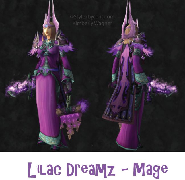 Lilac Dreamz #mage #transmog for #worldofwarcraft! http://stylezbycent.com #wow