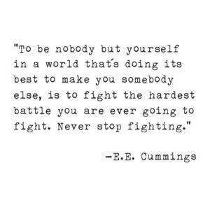 never stop being yourself