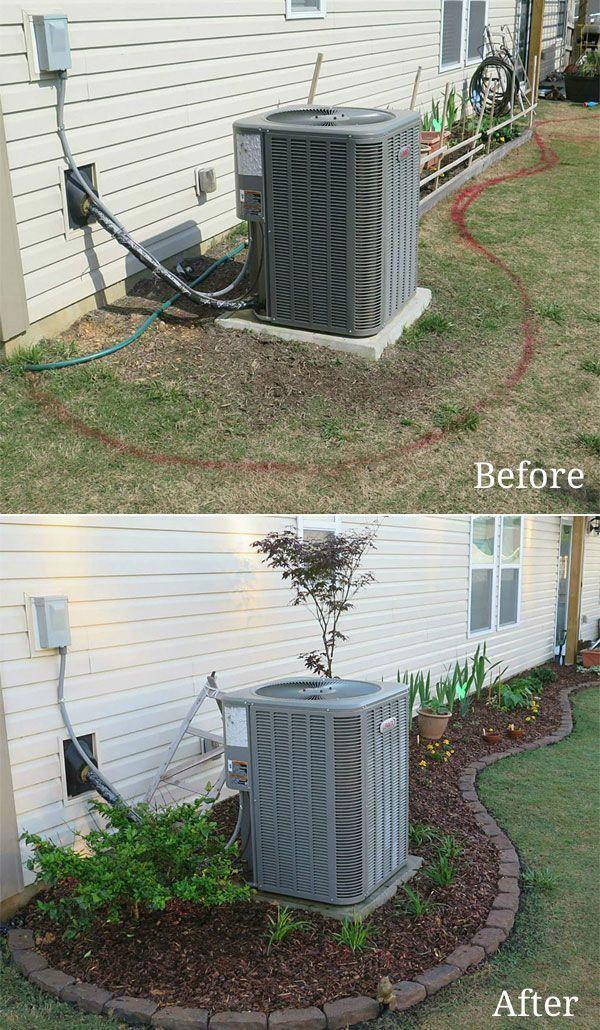 Gartenprojekt vor und nach dem Besäumen und Mulchen. Es gibt einfache Möglichk… – Verena Krawez