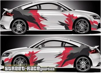 Audi TT camouflage rally racing graphics decals