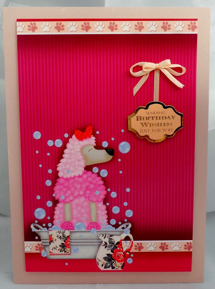 A5 card with hand made envelope, ribbon detail and the inside message is With love & best wishes