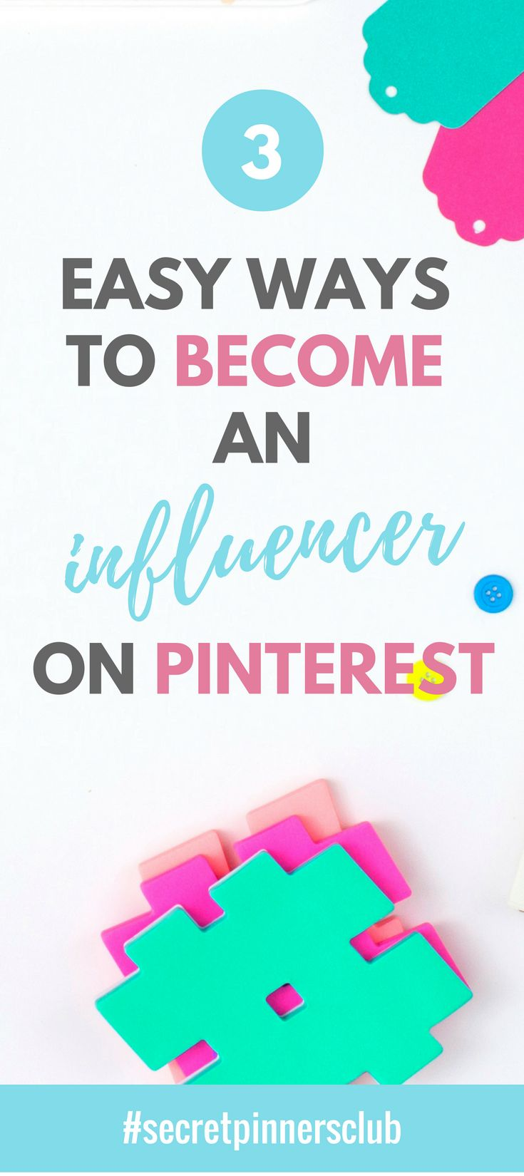 Click to find out what three things you can do today become an influencer on Pinterest tomorrow. Find Pinterest tips and tricks over on the blog.