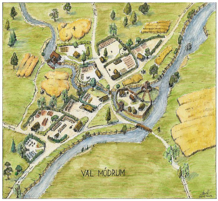 Val Modrum village map by Brian-van-Hunsel on DeviantArt