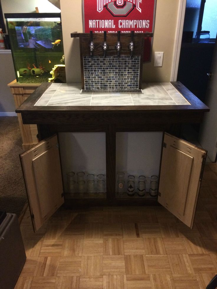Keezer build kegerators beer and bar Home bar furniture with kegerator
