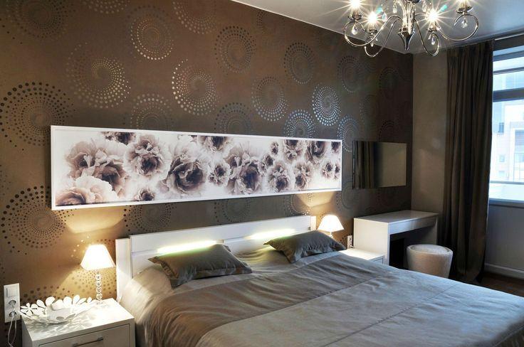 Современные обои для спальни: выбор рисунка и варианты комбинирования