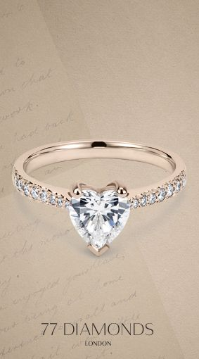 Hold the key to your heart with this heart diamond #engagement band #ring #rosegold