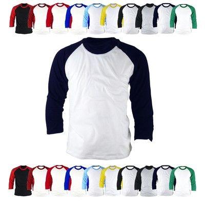 l mens womens 34 sleeve raglan baseball jersey tshirt tee vintage shirts top1f