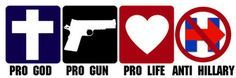 3x9-inch-Pro-God-Guns-Life-ANTI-HILLARY-Bumper-Sticker-no-clinton-go-trump-bern