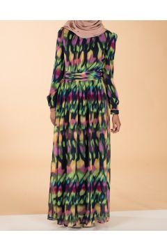 Colorful chiffon dress