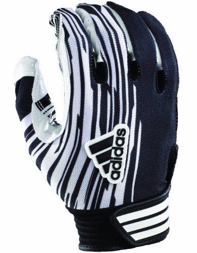 adidas football gloves. adidas youth adizero football receiver glove (black/white, large) by adidas. gloves
