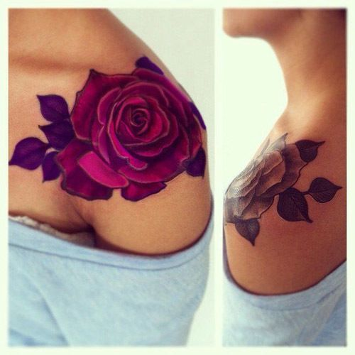 LOVE the placement on this one. Probably going to go with the large lotus flower where this rose is.