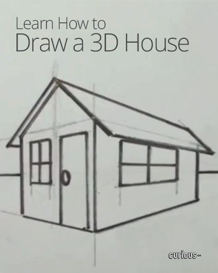 1000 images about how to draw and color on pinterest one point perspective easy things to 3d house drawing