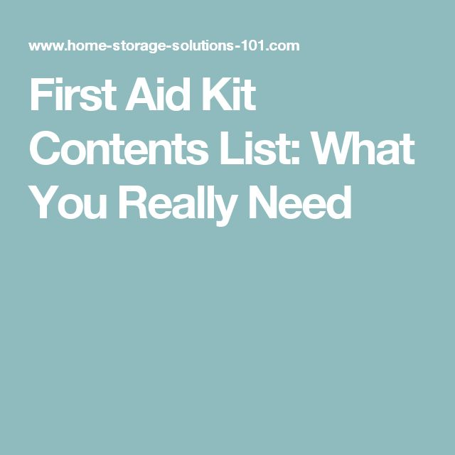 First Aid Kit Contents List: What You Really Need